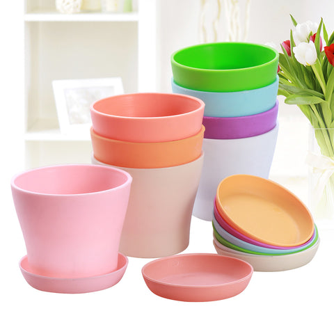 8 Pcs High-Waist Flower Pots-Smart Garden Shop