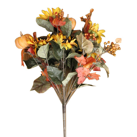 Pumpkin Sunflower & Berry Artificial Bouquet
