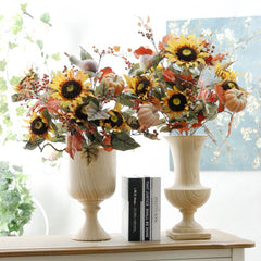 Pumpkin Sunflower & Berry Artificial Bouquet-Smart Garden Shop