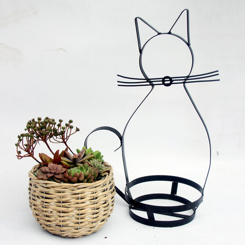 Cat Shape Iron Shelving-Smart Garden Shop