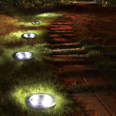 4 Pcs Solar Ground Lights-Smart Garden Shop