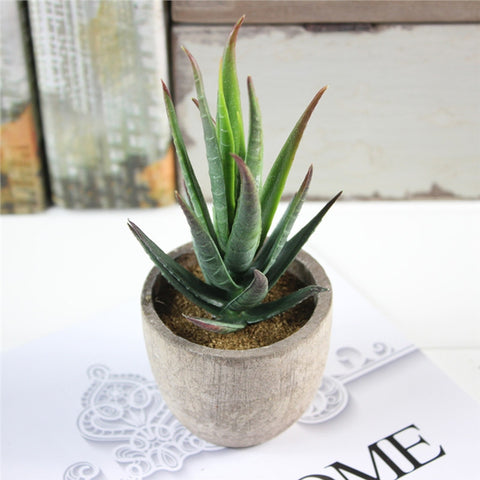3 Pcs Succulent Artificial Plants with Pots-Smart Garden Shop
