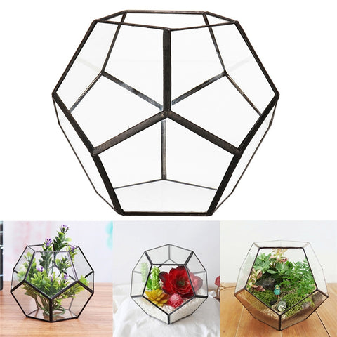 Diamond Design Glass Planter-Smart Garden Shop