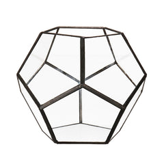 Diamond Design Glass Planter
