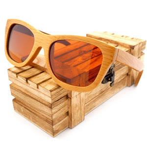 2a24758dd8 100% Natural Bamboo Wooden Sunglasses