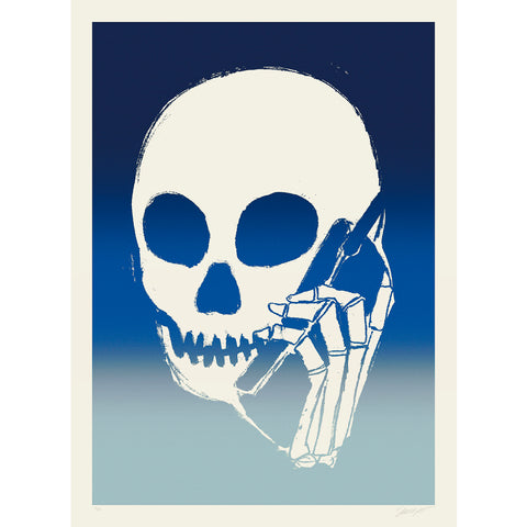 SKULLPHONE Limited Edition Print, 2019 Blue Fade