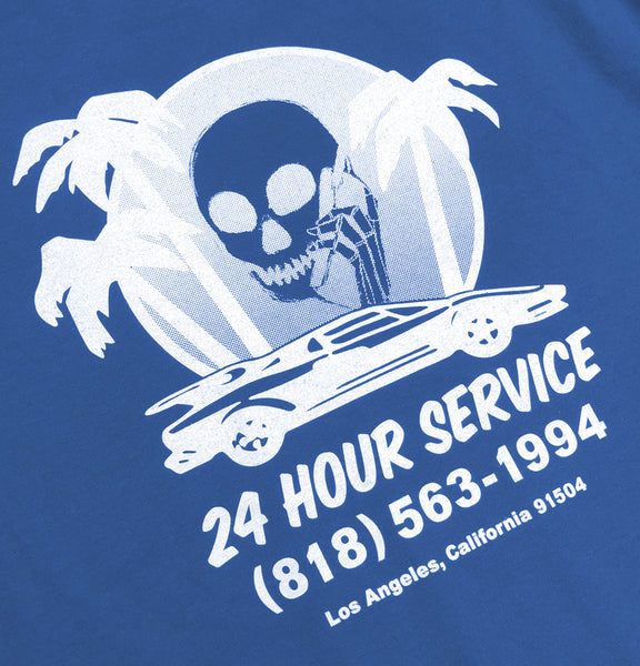SKULLPHONE Service Pocket Tshirt Blue