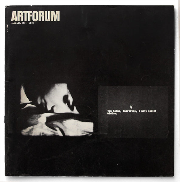 ARTFORUM, January, 1974 :::