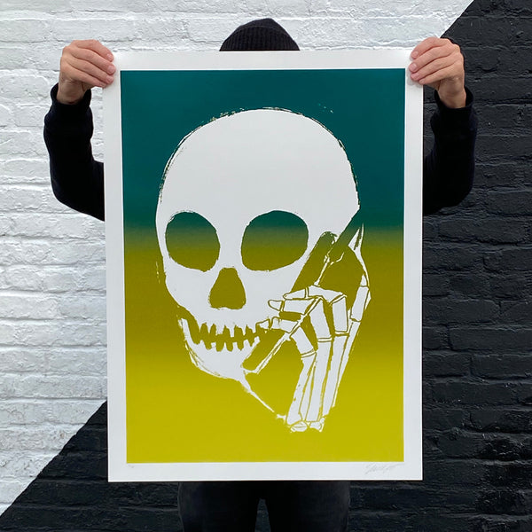 SKULLPHONE Limited Edition Print, 2019 Green Fade