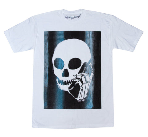 New! SKULLPHONE Full T-shirt White - Artist Edition