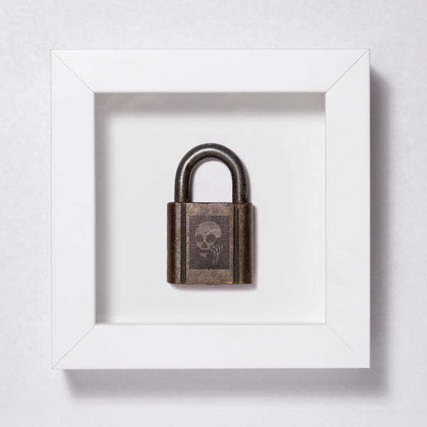 Skullphone Lock - Brass