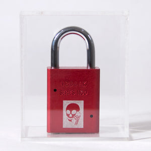 Skullphone Lock - Red