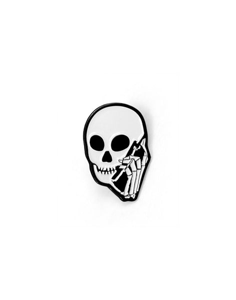 SKULLPHONE Small Enamel Lapel Pin
