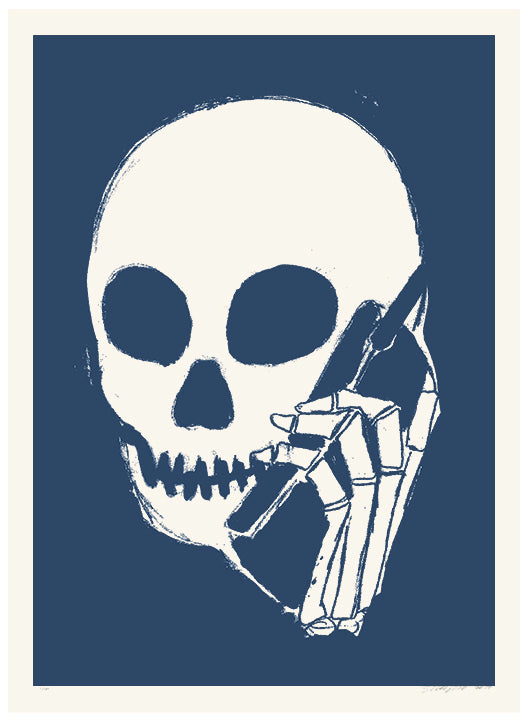 SKULLPHONE Limited Edition Print, 2017 Muted Blue