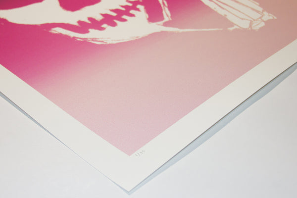 SKULLPHONE Limited Edition Print, 2019 Pink Fade