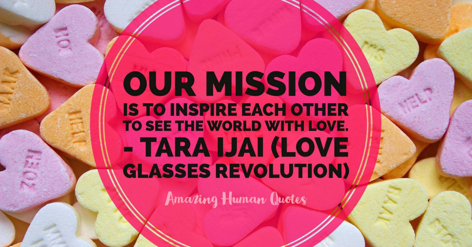 Tara Ijai Love Glasses Revolution