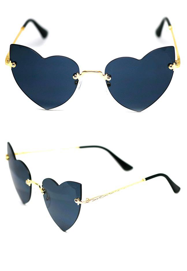 Cat Eye Frameless Love Glasses