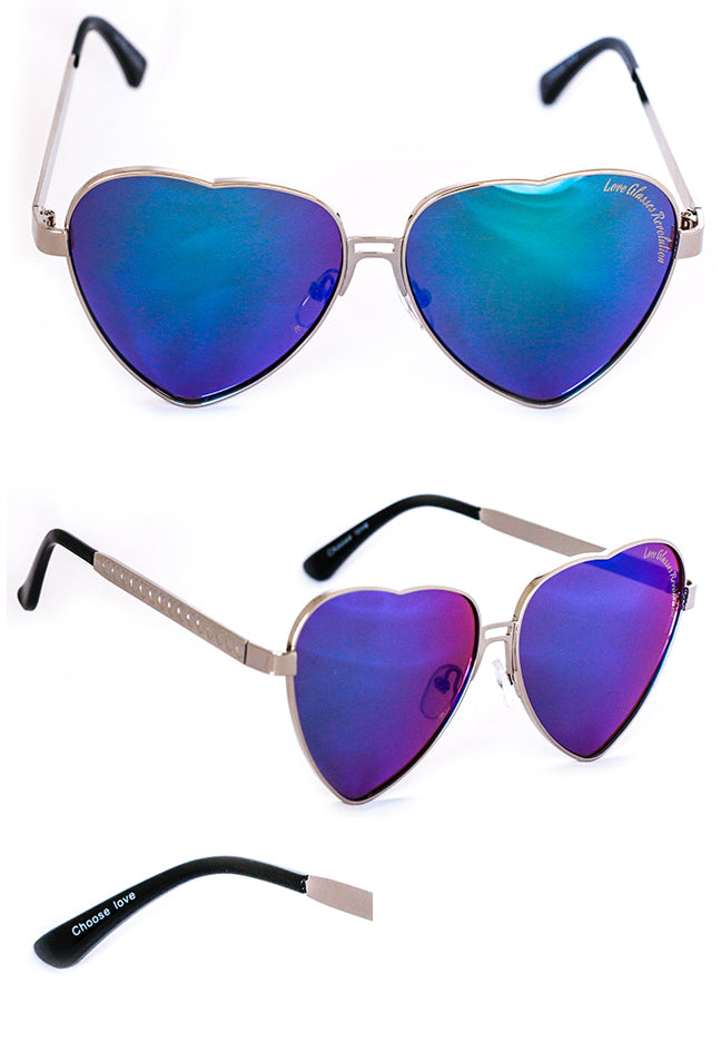 Aviators with a message of love - Love Glasses Revolution