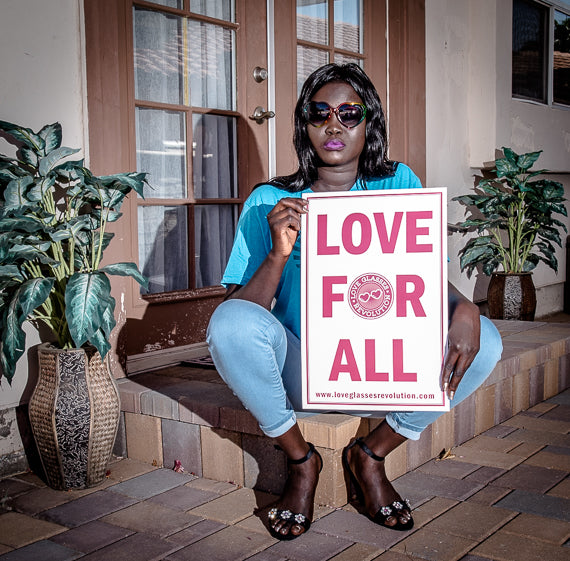 12 x 18 LOVE FOR ALL POSTER