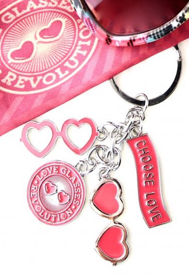 Love Glasses Keychain