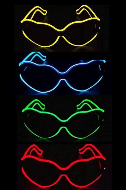 Light Up Neon Heart Shaped Glasses!