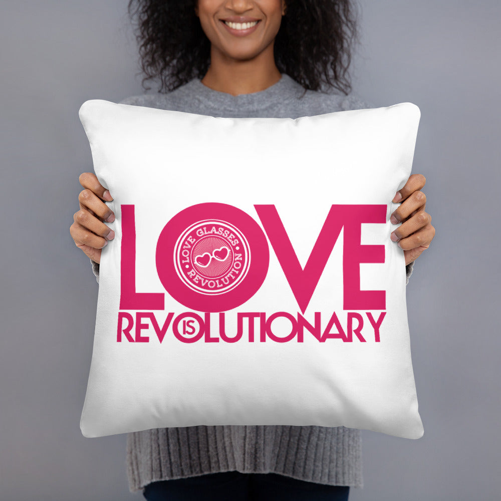 Love is revolutionary Throw Pillow