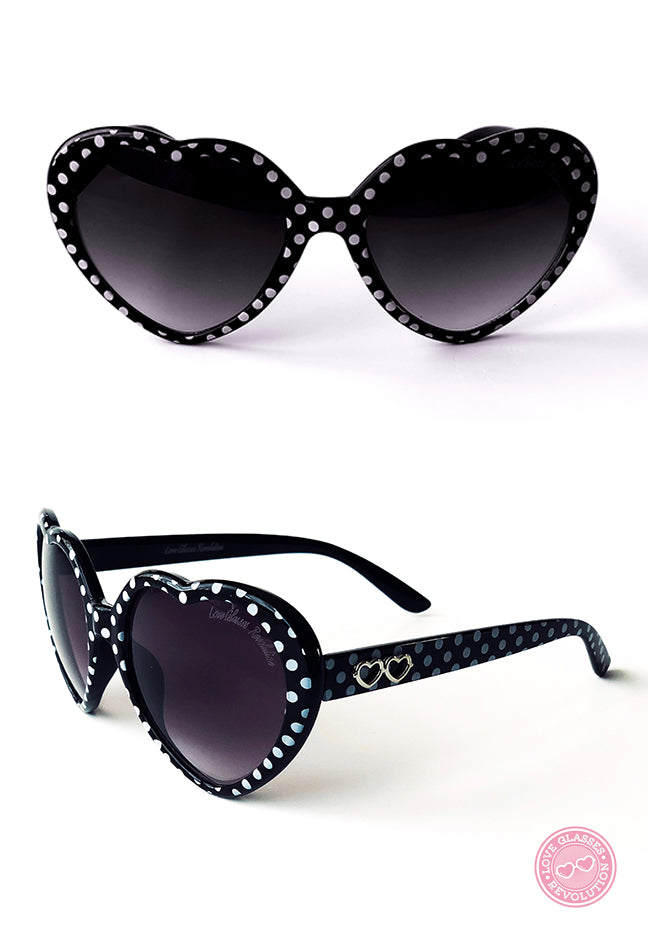 ADORABLE Polka Dot Love Glasses
