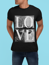 LOVE graphic tee Short-Sleeve Unisex T-Shirt - Love Glasses Revolution