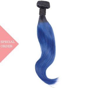 Blue Ombre Straight Extensions