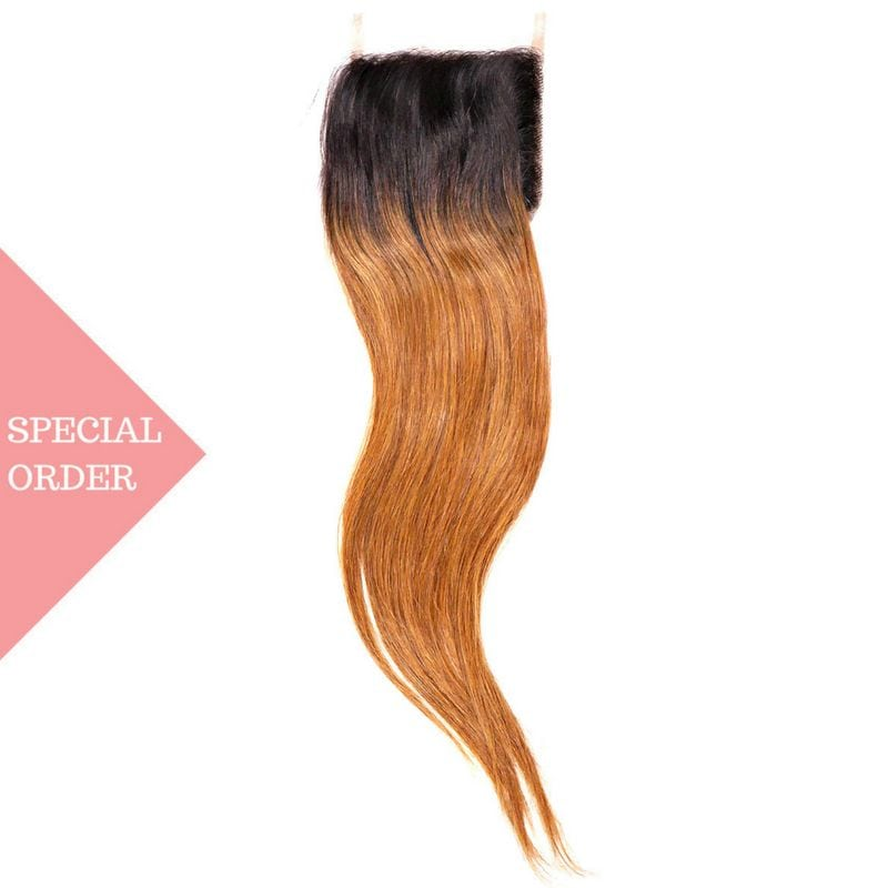 Copper Ombre Straight Closure