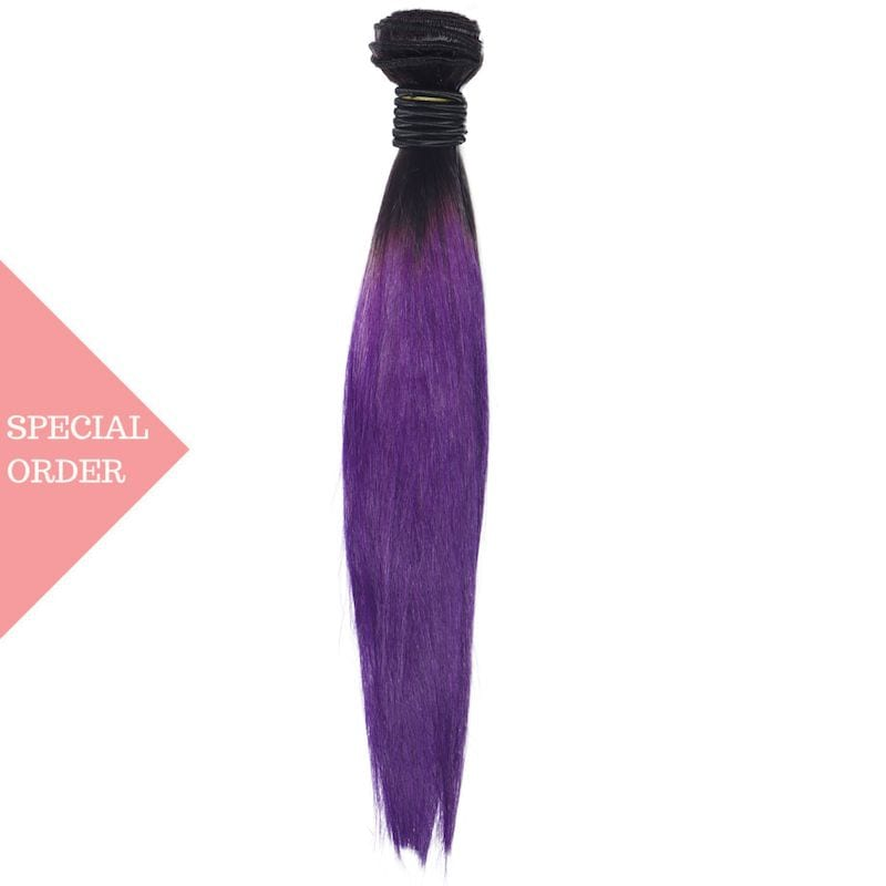 Purple Ombre Straight Extensions
