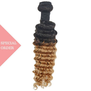 Blonde Ombre Deep Wave Extensions