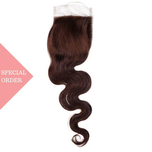 Chocolate Brown Body Wave Closure