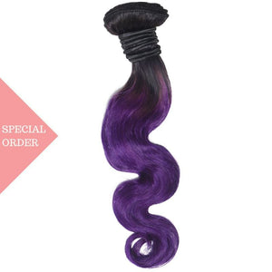Purple Ombre Body Wave Extensions