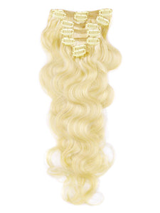 Russian Blonde Body Wave Clip-ins