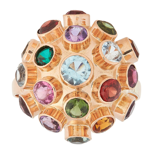 *NEW* Multi Colour Gemstone Ring, 14ct Rose Gold
