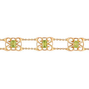 Liberty Peridot Bracelet, 18ct Yellow Gold