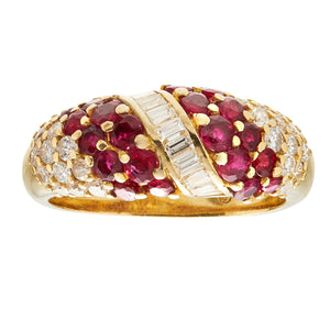 *New* Vintage Ruby and Diamond Ring, 18ct Yellow