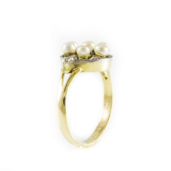 Pearls and Diamonds Ring