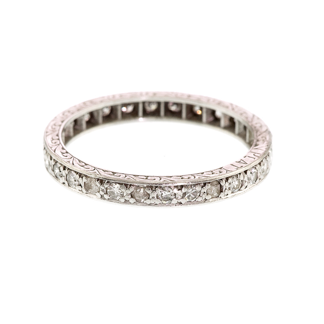 Art Deco Diamond Eternity Ring, 1.20carat, Platinum