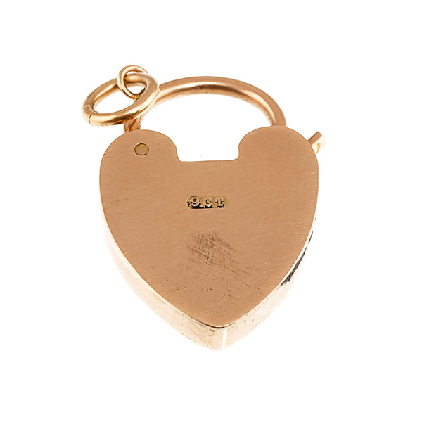 Edwardian Heart Padock Pendant, 9ct Rose Gold