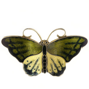 David Andersen Enamel Butterfly Brooch