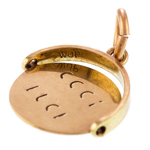*NEW* Vintage 'Good Luck' spinning charm, 9ct