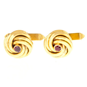 *NEW* Cartier Gold Knot Cufflinks