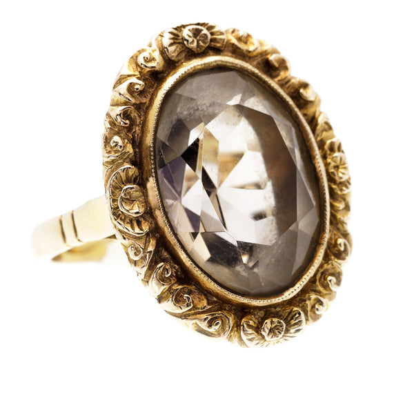 Victorian Smokey Quartz Ring