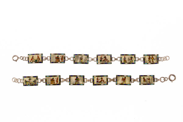 Art Deco Egyptian Revival Bracelets