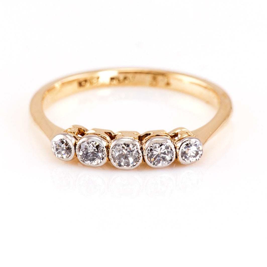 Edwardian Diamond 5 stone Ring