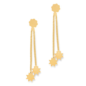 *NEW* Star Drop Earrings 9 carat Yellow Gold