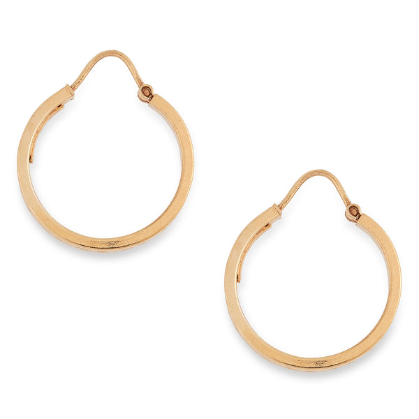 Vintage Patterned Hooped Earrings 9 carat Yellow Gold