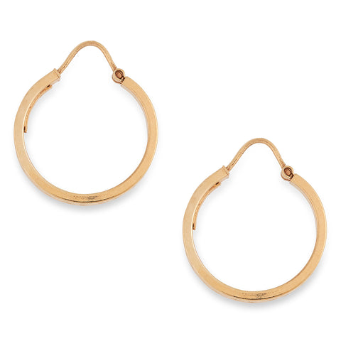 *NEW* Vintage Patterned Hooped Earrings 9 carat Yellow Gold